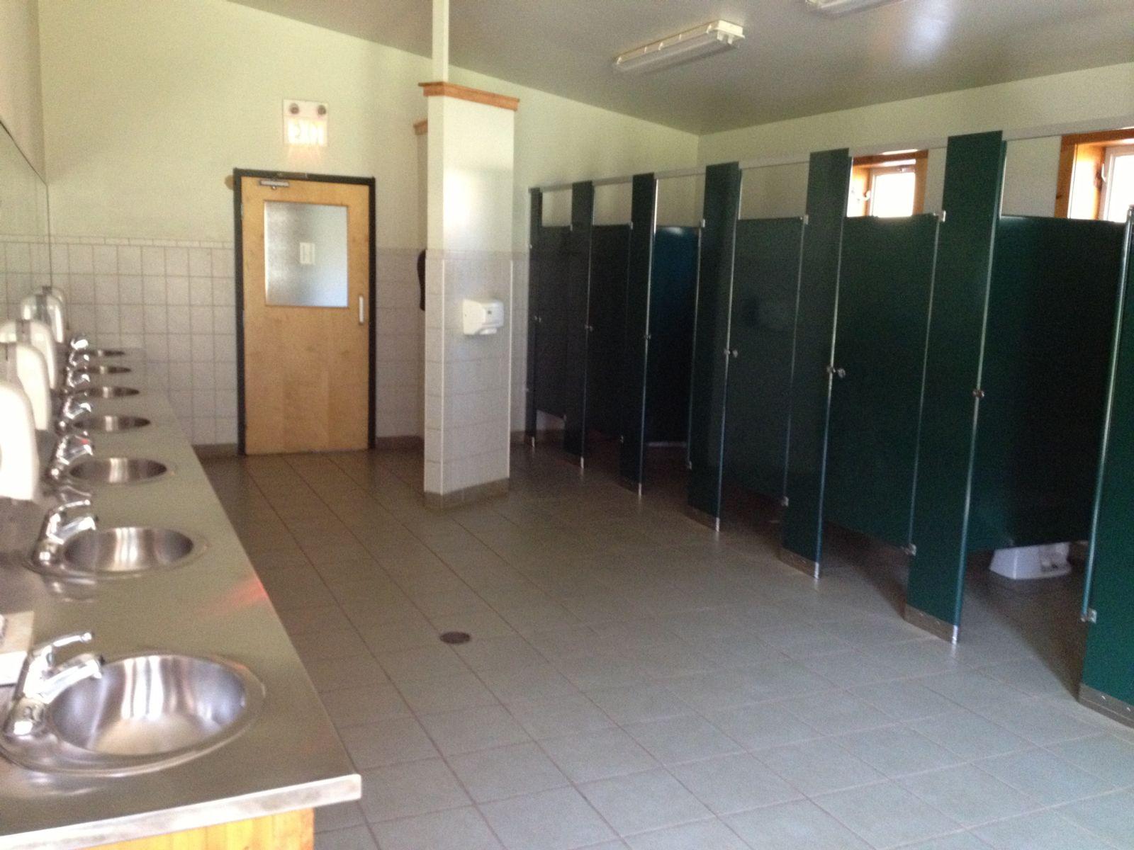 Inside of the girls side of the washroom. Washrooms   Medeba